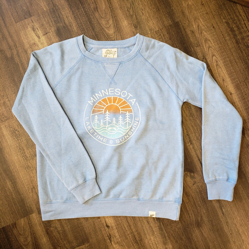 Laketime & Sunshine Sky Blue Crewneck Sweatshirt