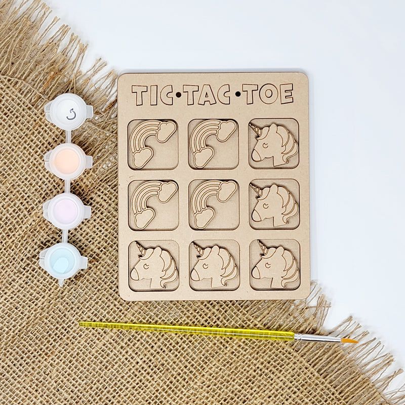 Unicorn Tic Tac Toe Craft Kit
