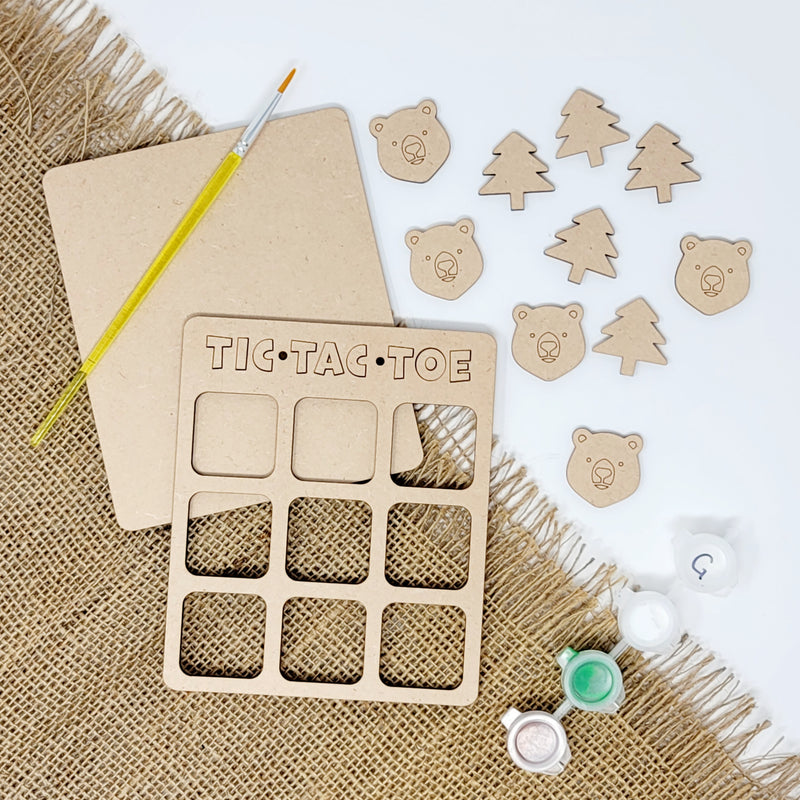 Woodsy Tic Tac Toe Craft Kit