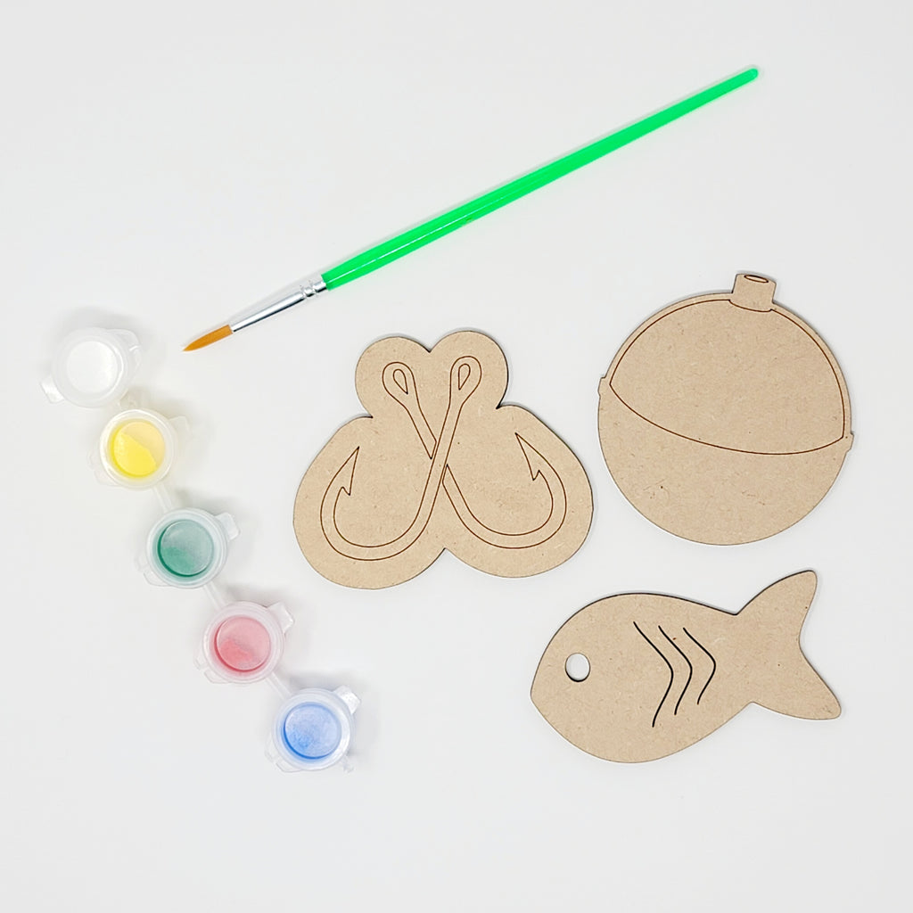Fishing Time Wooden Cutout Painting Kits