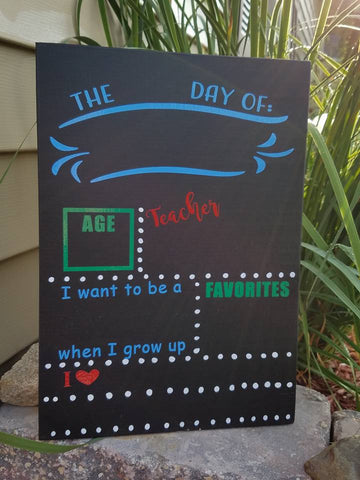 First Day of School - Chalkboard Sign