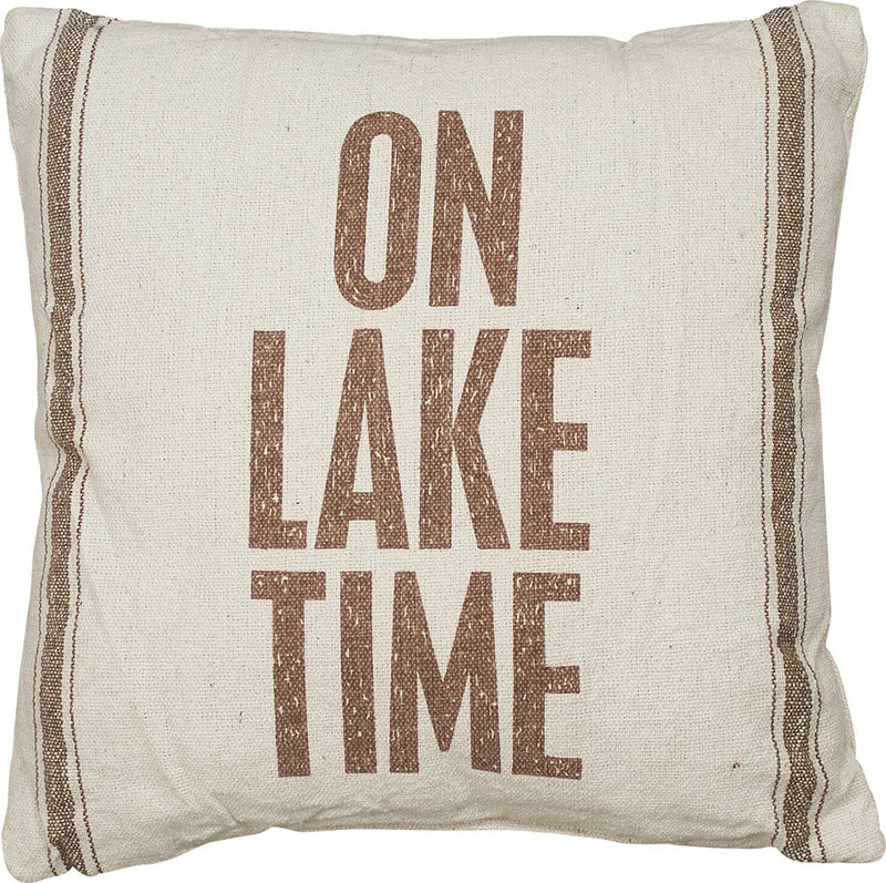 On Lake Time - Pillow