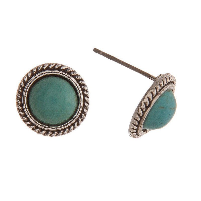 Silver and Turquoise Studs