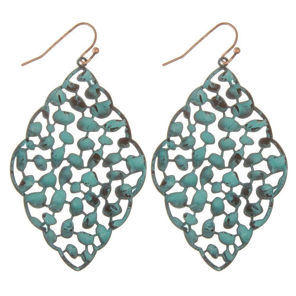 Moroccan Teal Earrings