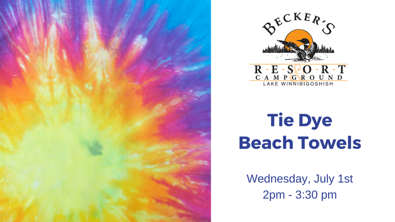 July 1st | Tie Dye Beach Towel at Becker's Resort