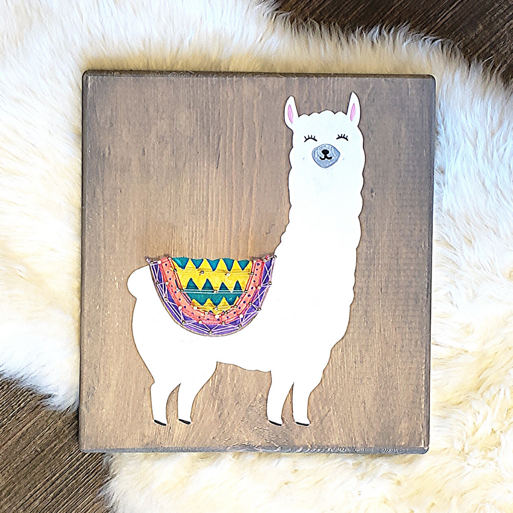 Llama Paint + String Art Craft Kit