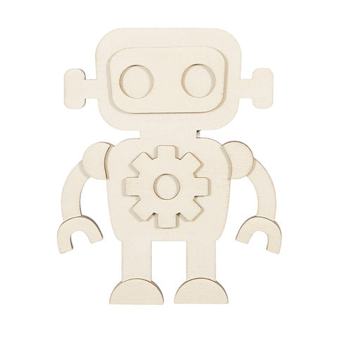 Wooden Robot Painting  Kit