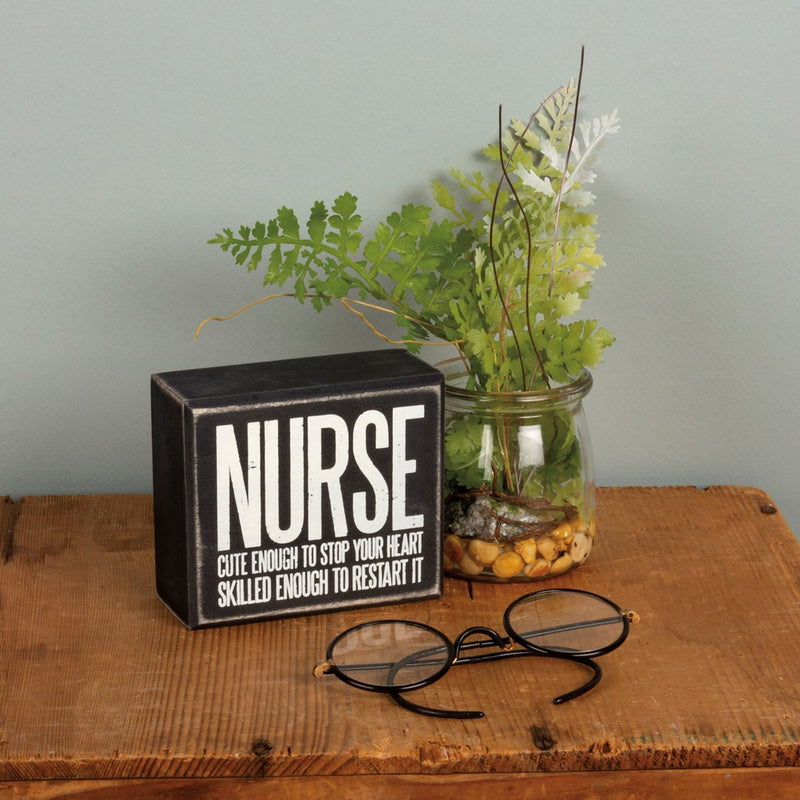 Cute + Skilled - Nurse Sign