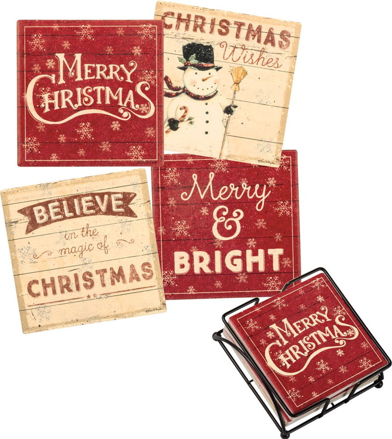 Holiday Coasters - set of four