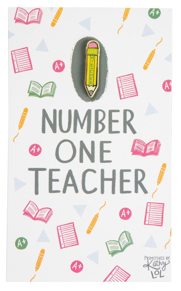 Number One Teacher - Enamel Pin