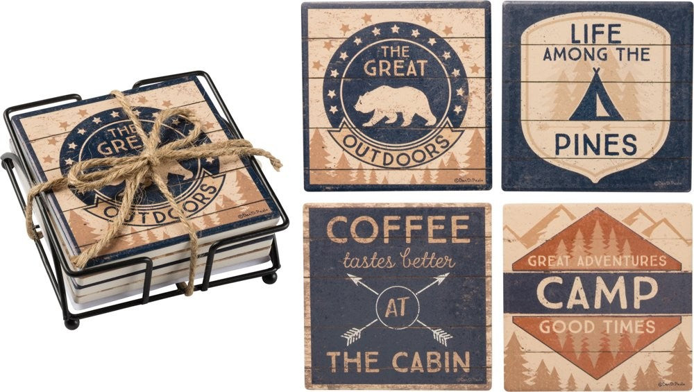 Camping Coasters - set of four