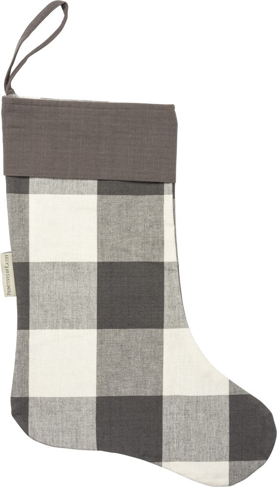 Charcoal Buffalo Check Stocking