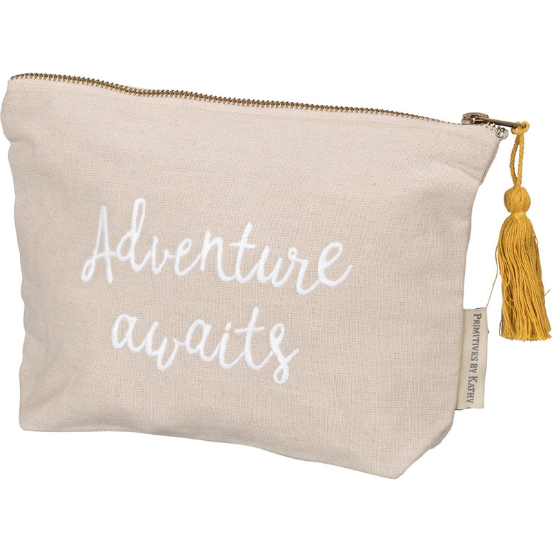 Adventure Awaits - Zipper Pouch
