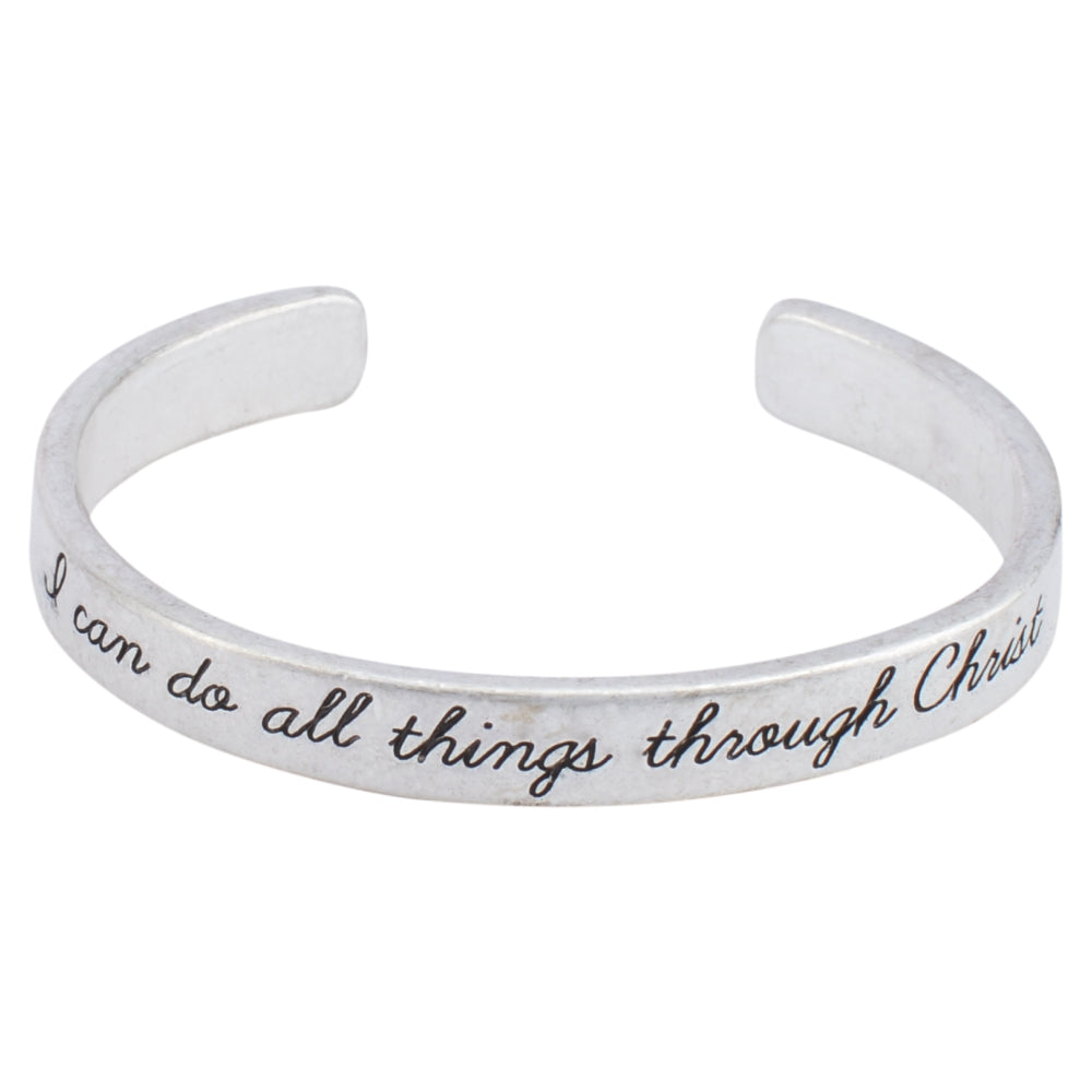 """All Things Through Christ"" Cuff Bracelet"