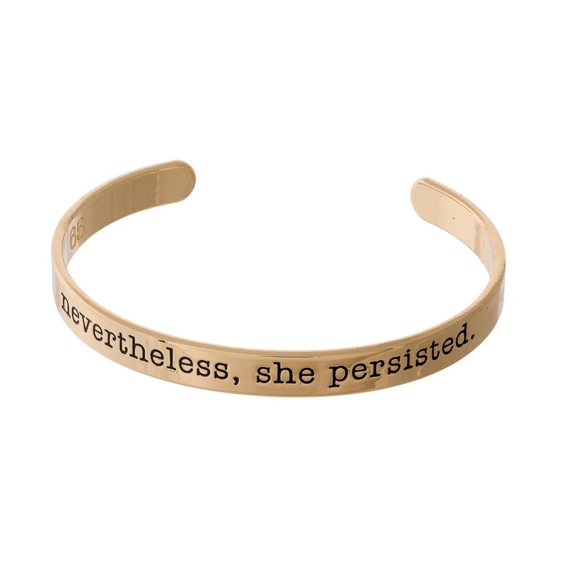 """Nevertheless"" Cuff Bracelet"