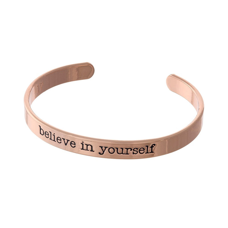 """Believe in Yourself"" Cuff Bracelet"