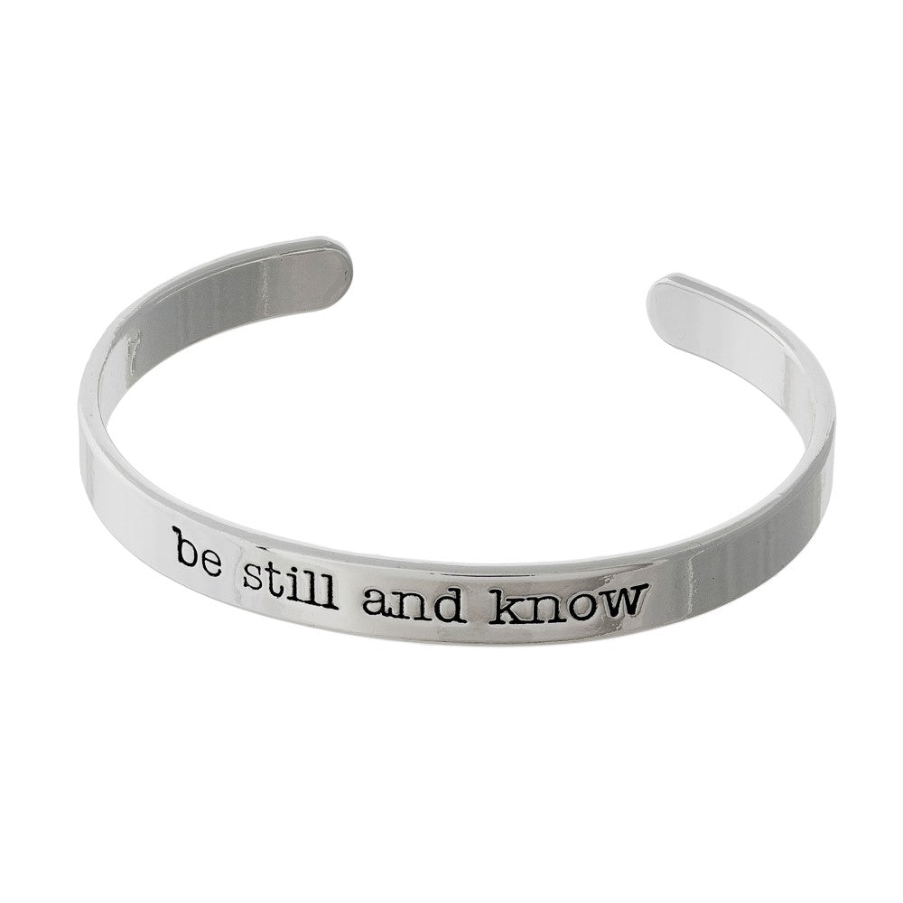 """Be Still and Know"" Cuff Bracelet"