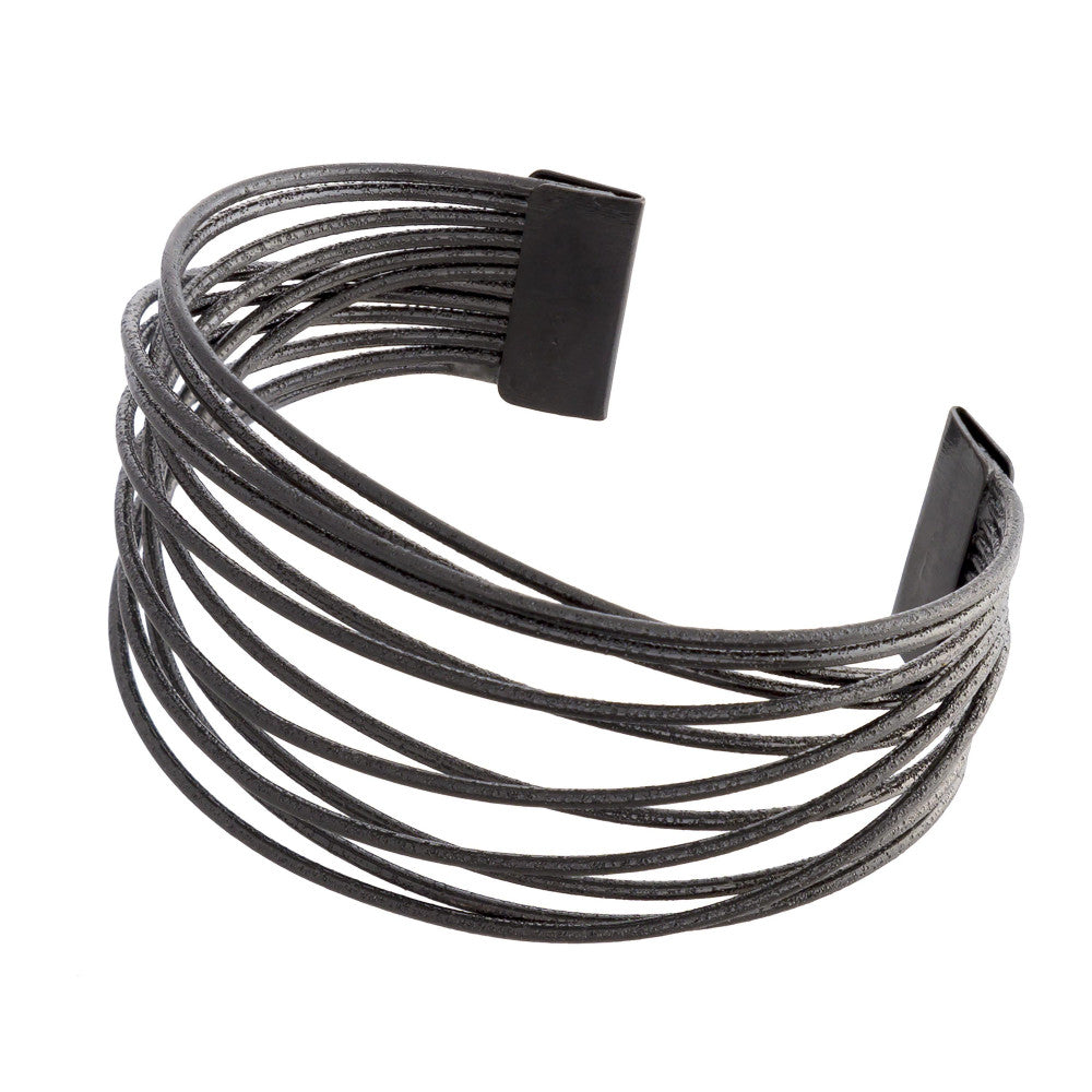 Black Metallic Cuff - Bracelet