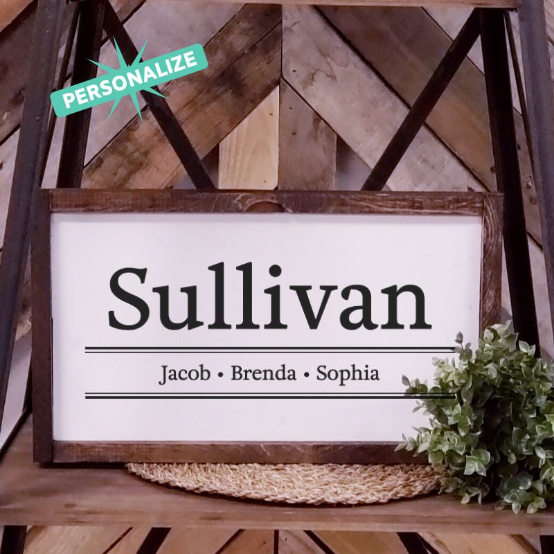 Sullivan Design Family Sign - Personalize