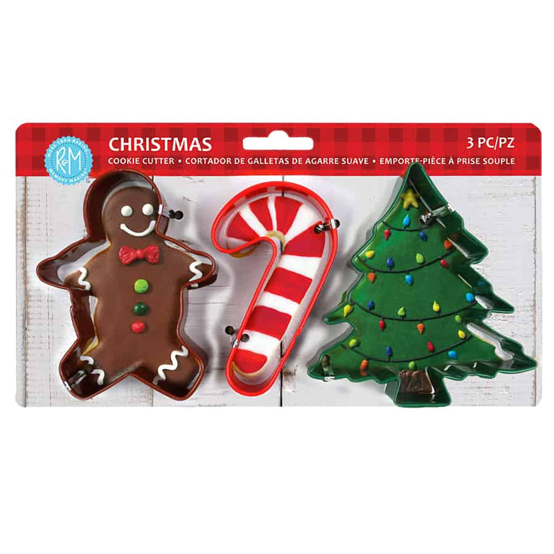 CHRISTMAS 3PC COLOR COOKIE CUTTER