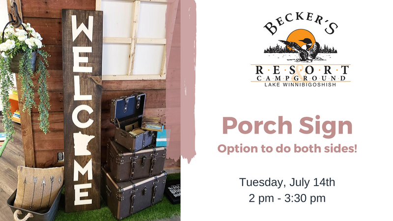 July 14th | Porch Sign Class at Becker's Resort