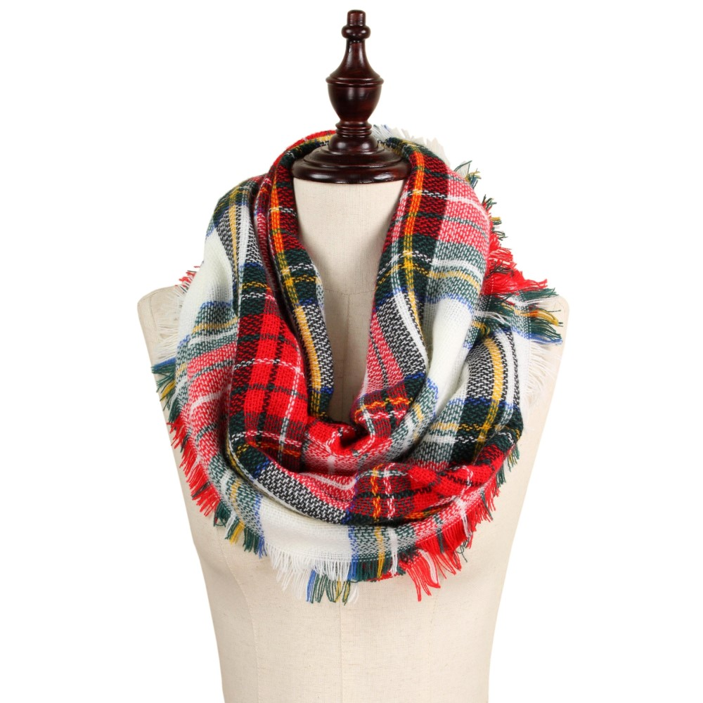 Red/White/Black Infinity Scarf