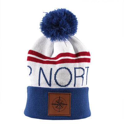 Up North Beanie - Red, White and Blue
