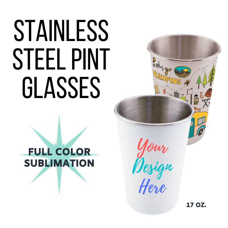 Custom Stainless Steel Pint Glasses