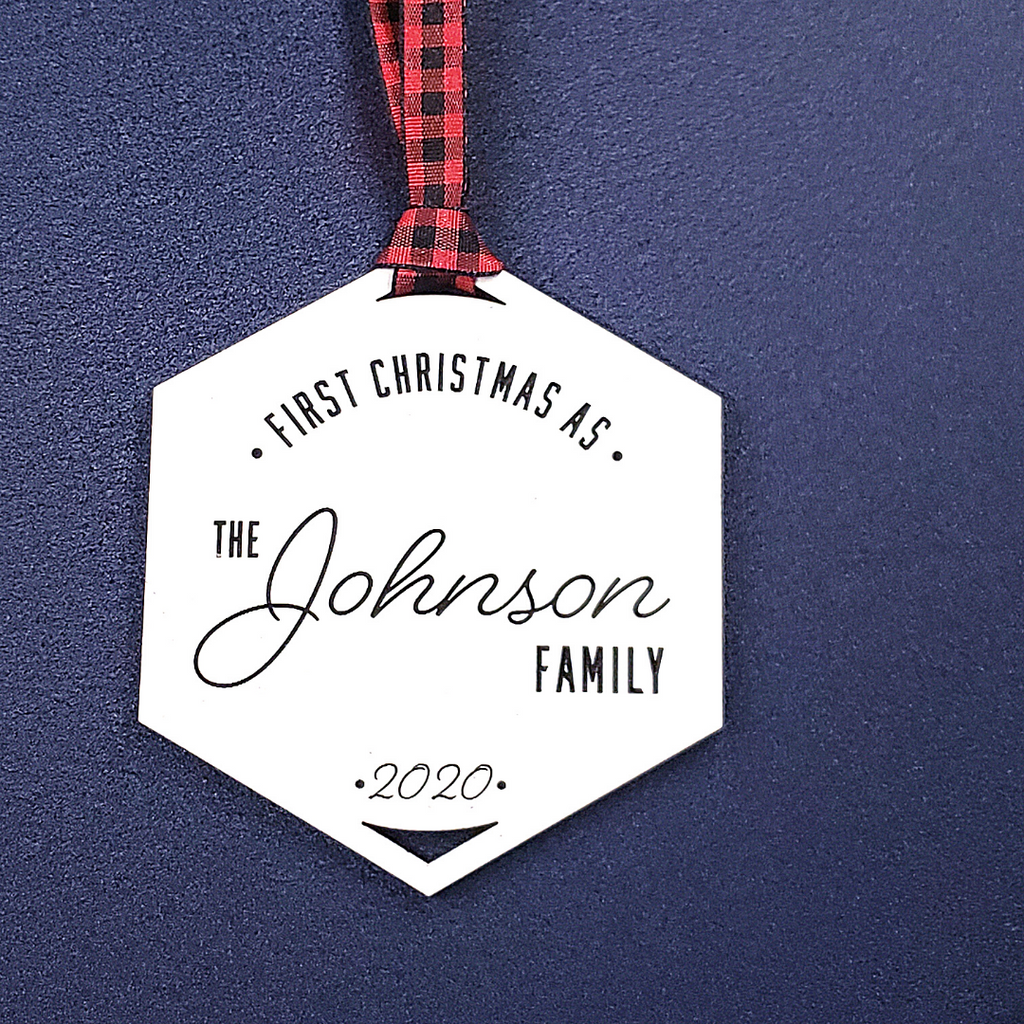 Hexagon Family Ornament - Personalize