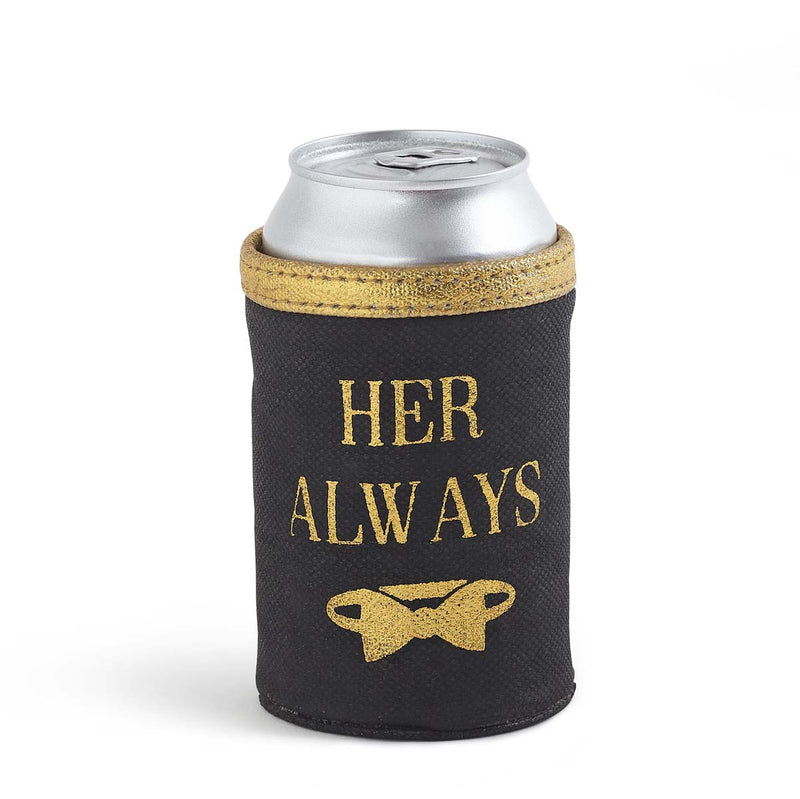 His and Hers Wedding Can Koozies