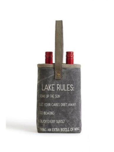 Lake Rules - Double Wine Bag