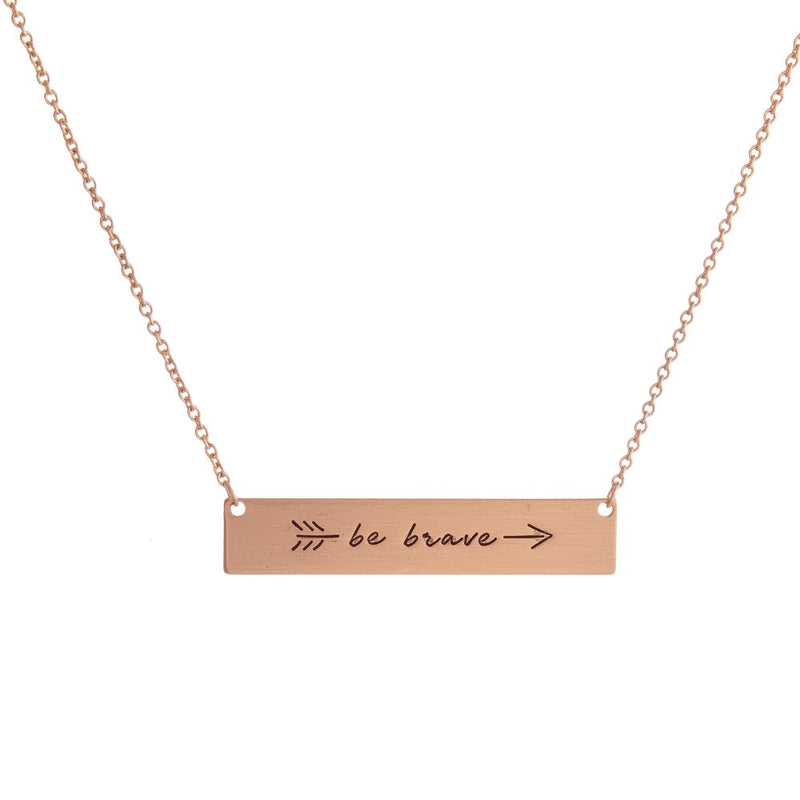 Be Brave Rose Gold Necklace