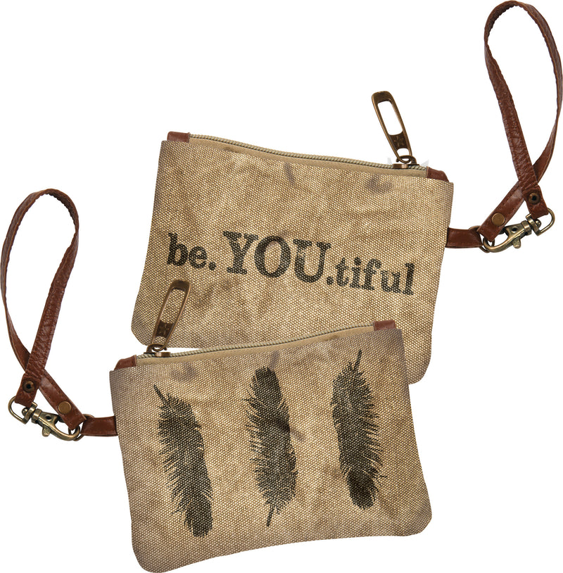 Be YOU tiful - Canvas Coin Purse