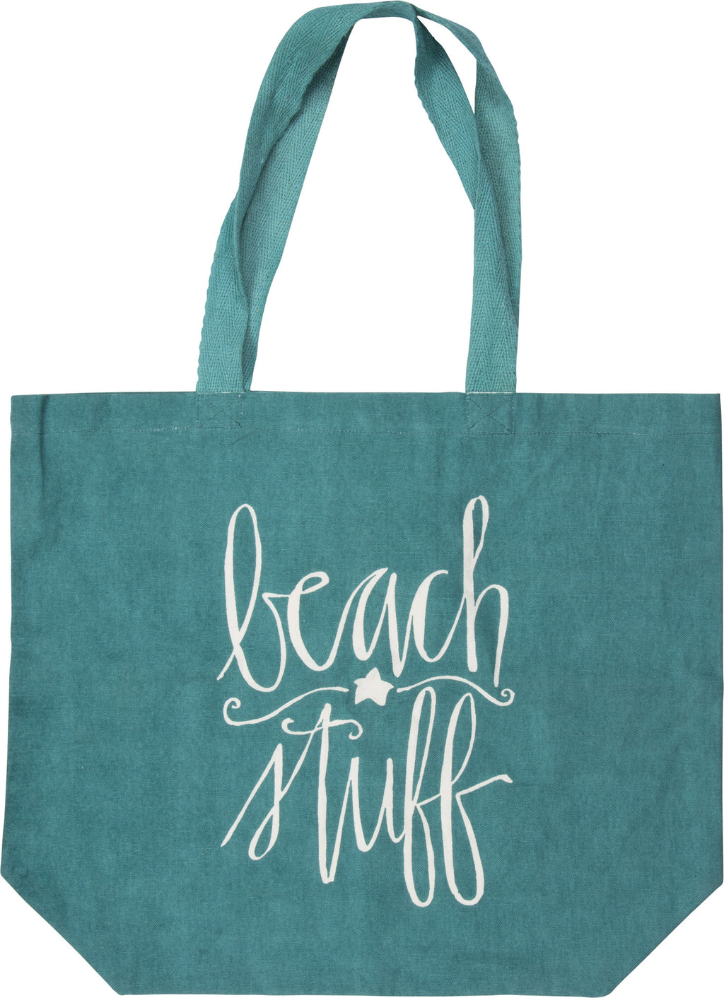 beach bag canvas turquoise tote