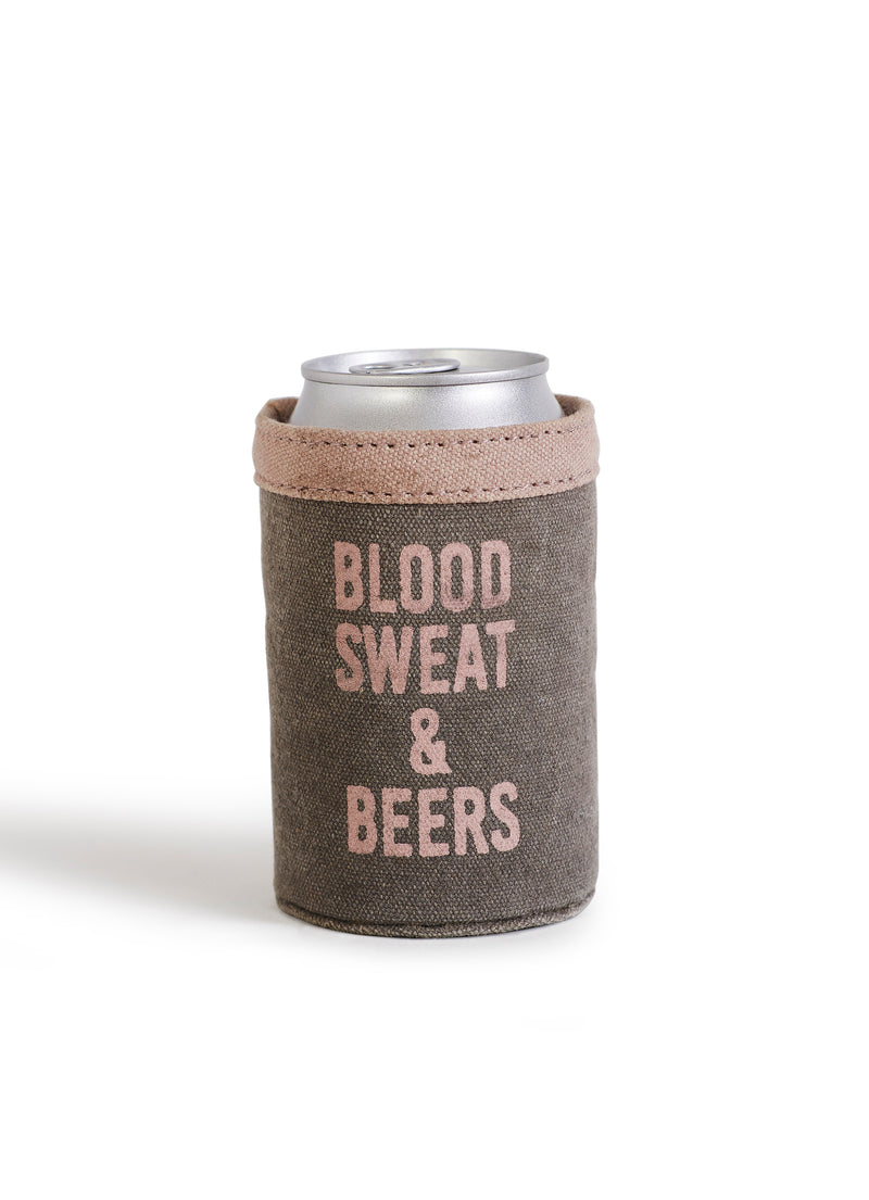 Blood Sweat and Beer Can Koozie