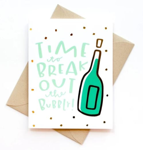 Break Out The Bubbly - Gold Foil