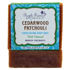Cedarwood Patchouli - Exfoliating Body Bar Soap