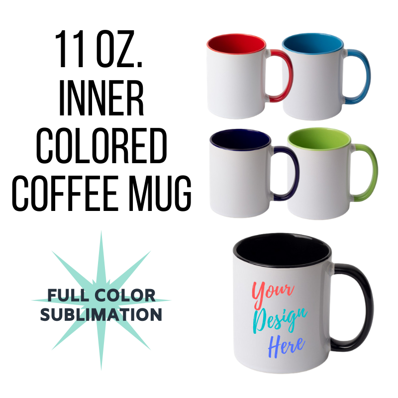 Inner Colored Custom Coffee Mugs