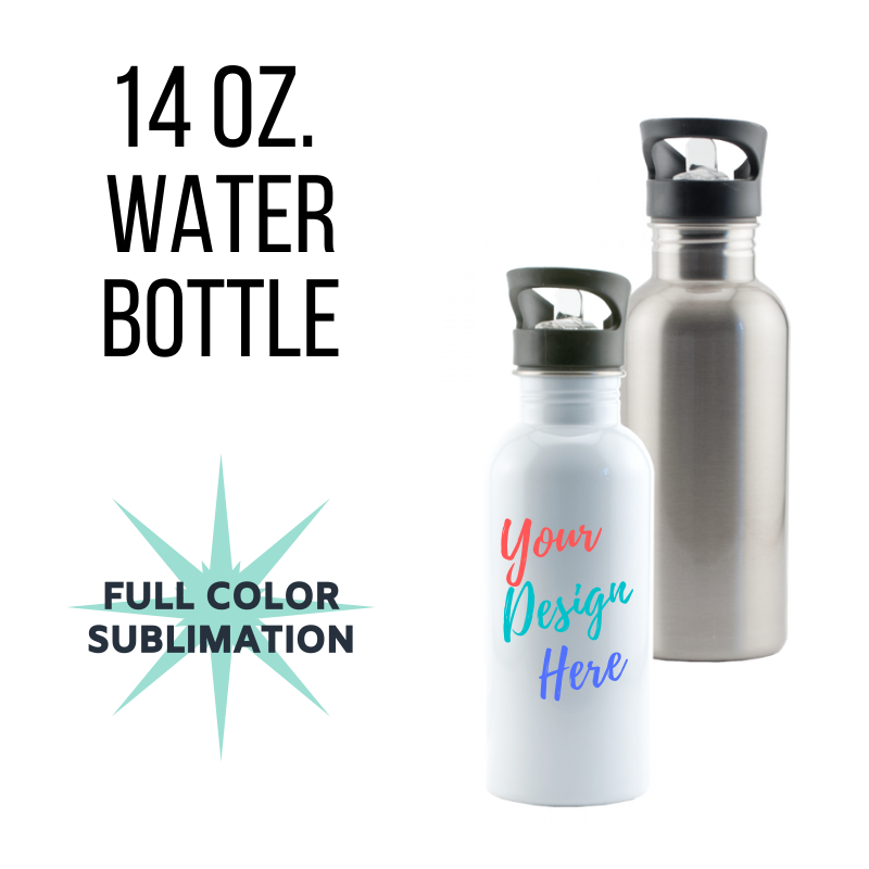 14 oz. Custom Water Bottle