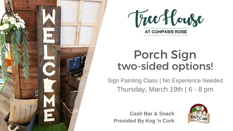 Porch Sign Class - One or Both Sides | March 19th