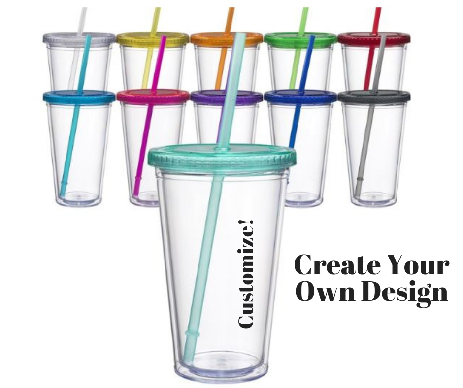 CUSTOM Colored Acrylic Tumbler