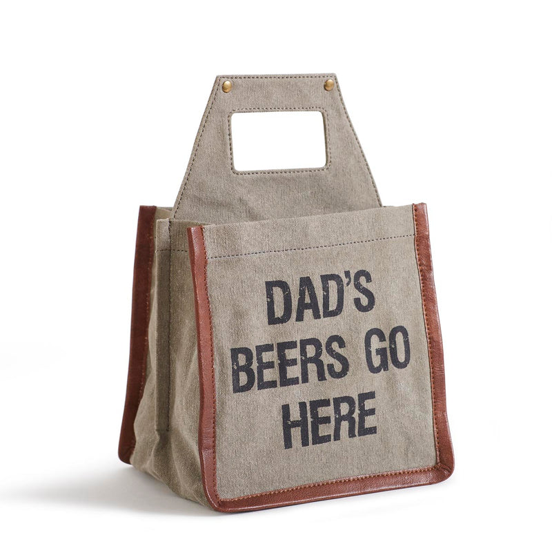 Dad's Beer Goes Here -  Beer Caddy
