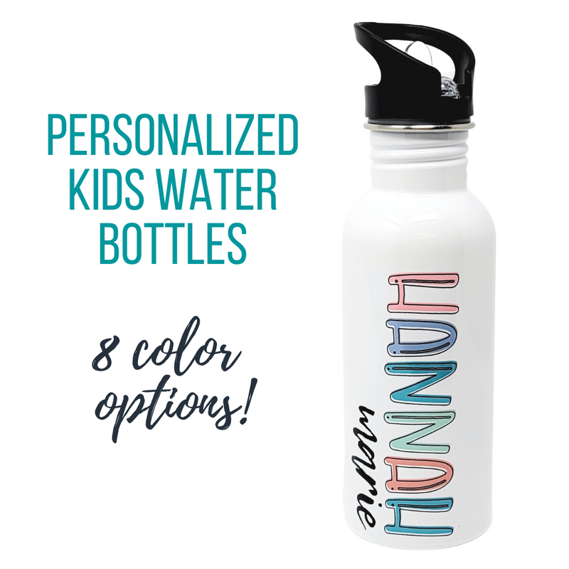 Bubble Font Personalized Kiddo Water Bottle