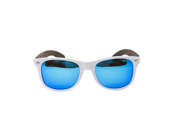 MN Frosted Blue Walnut Wood Sunglasses