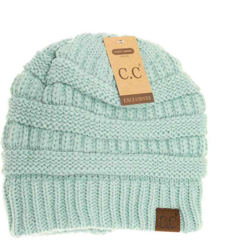 Multiple Colors: Adult CC Fuzzy Lined Beanie