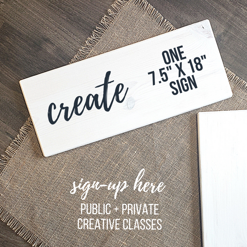 "8"" x 18""  Sign Project"