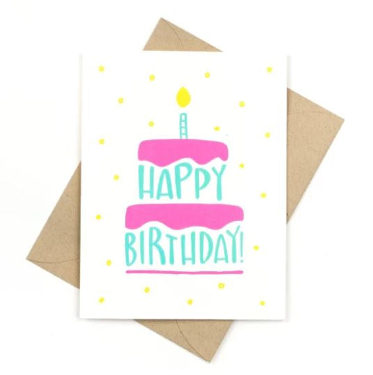 Happy Birthday Cake - Card