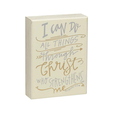 I can do all things through christ who strengthens me painted wooden sign