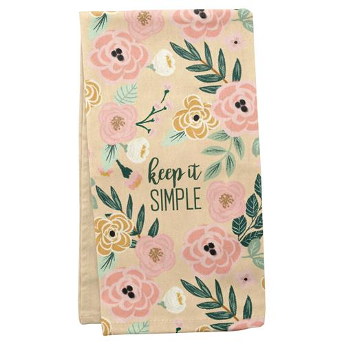 Keep It Simple - Tea Towel