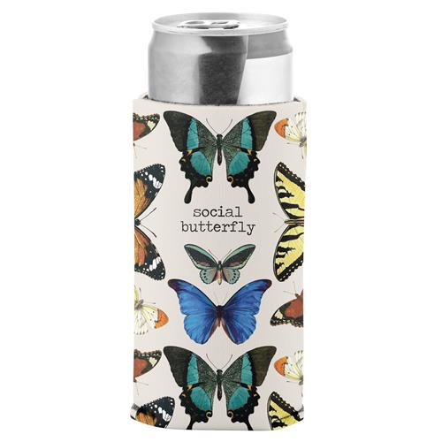 Social Butterfly - Slim Can Koozie